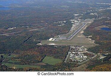 aeroporto, aereo, muskoka