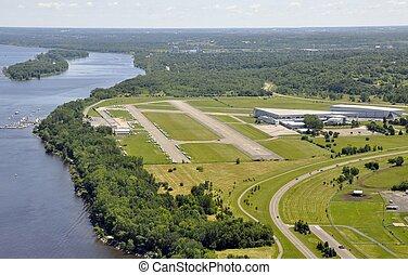 aeroporto, aereo, rockcliff