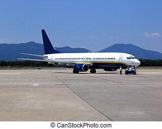 aeroporto, aeroplano