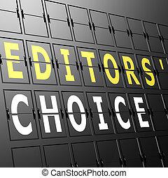 aeroporto, editors, mostra, scelta