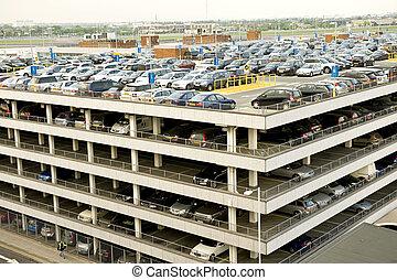aeroporto, estacionamento