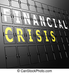 aeroporto, finanziario, mostra, crisi