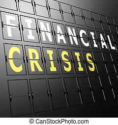 aeroporto, mostra, finanziario, crisi