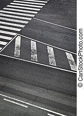 aeroporto, pista, strada, contrassegni