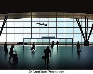 aeroporto, salone