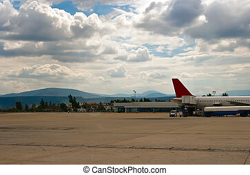 aeroporto, scena