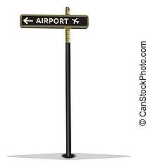 aeroporto, segnale stradale