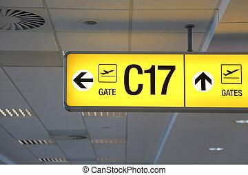 aeroporto, segno