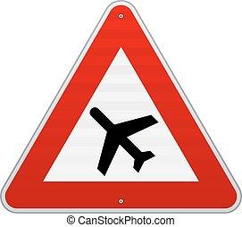 aeroporto, segno strada