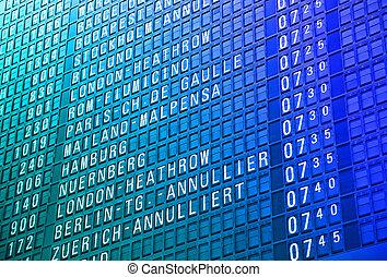 aeroporto, timeboard