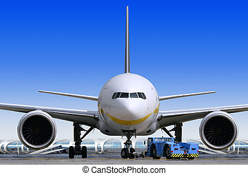 aeroporto, transatlantico, aria