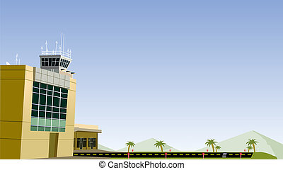 aeropuerto, avión, corra, manera