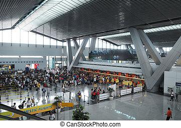 aeropuerto, en, manila