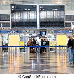 aeropuerto, recepción