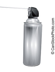 aerosol can isolated on a white background
