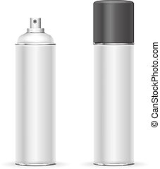 Aerosol spray metal bottle can. Deodorant or paint template