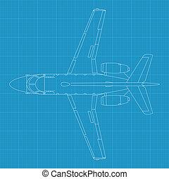 Aerospatiale Corvette - high detailed vector illustration of...