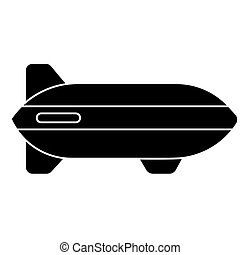 aerostat icon, vector illustration, black sign on isolated background