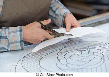 af het bakenen, holle weg, papier, mal, kunstenaar