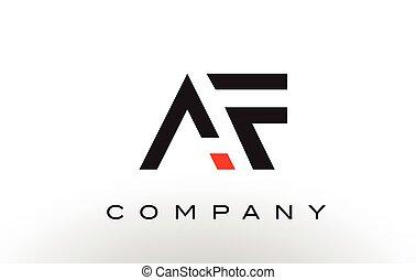 AF Logo.  Letter Design Vector.