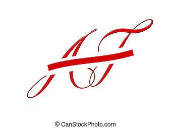 af, logotipo, logotype, diseño, abbildung, abzeichnen