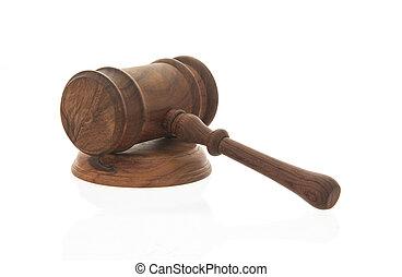 af træ, dommer, gavel