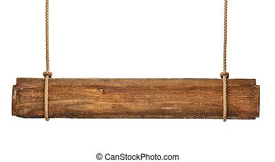 af træ, tegn, reb, baggrund, hængende, meddelelse