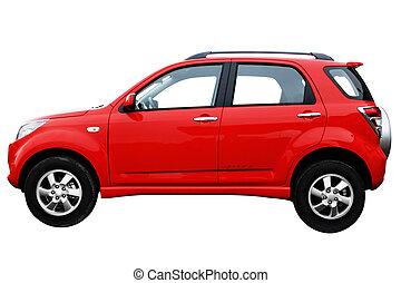 af, voiture, moderne, côté, rouges, vue