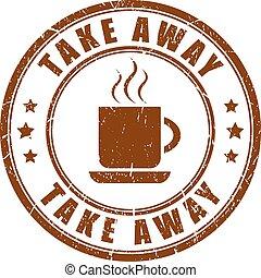 afastado, café, tomar