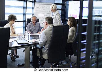 afbeelding, belangrijk, collectief, vergadering