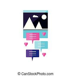 afbeelding, bellen, toespraak, bestand, formaat
