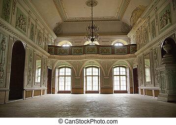 afbeelding, het voorstellen, interieur, van, de, paleis
