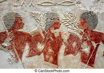 afbeelding, oud, egyptisch