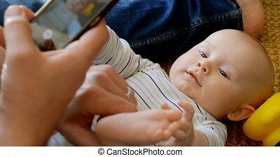afbeelding, thuis, zijn, baby, vader, jongen, 4k, boeiend