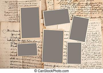 afbeeldingen, op, brieven