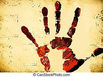 afdrukken, hand
