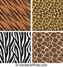 afdrukken, model, tegels, seamless, dier