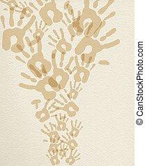 afdrukken, monochroom, illustratie, achtergrond, hand