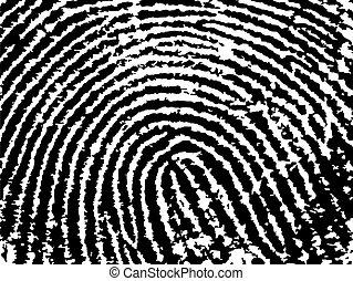 afdrukken, -, vinger, tellen, oogst, laag, poly, negen