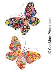 afdrukken, vlinder