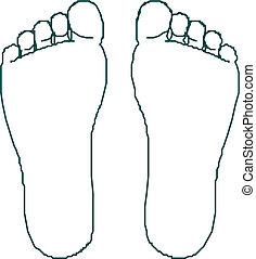 afdrukken, voet