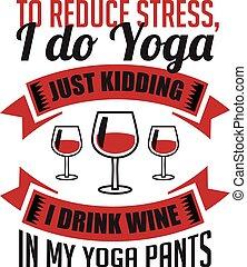 afdrukken, wijntje, verlagen, drank, stress, goed