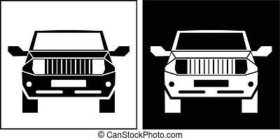 afe-straat voertuig, pictogram