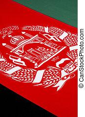 afeganistão, bandeira, detalhe