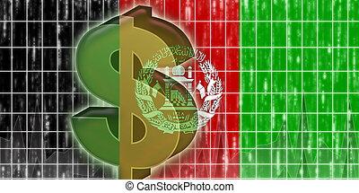 afeganistão, bandeira, finanças, economia
