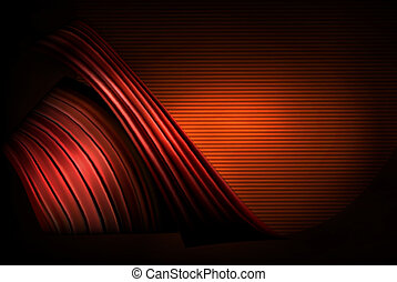 affär, abstrakt, illustration, elegant, bakgrund, röd