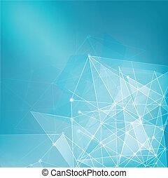 affär, abstrakt, nätverk, bakgrund, maska, teknologi