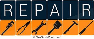 affär, design, reparera, verktyg, konstruktion