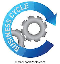 affär, drev, cykel, illustration