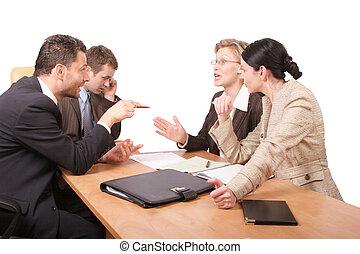 affär, förhandling